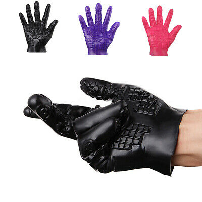 Erotik Handschuhe Massage Handschuhe Latex sex toy adult foreplay Vorspiel !