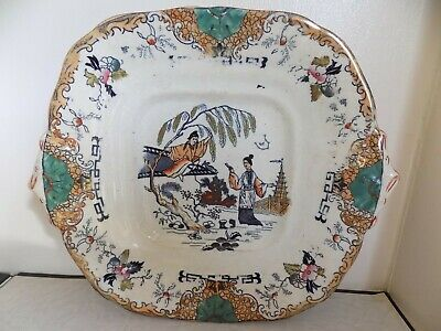 Glasgow Pottery Of John & Matthew Perston Bell 1840's Large Chinese Export Plate