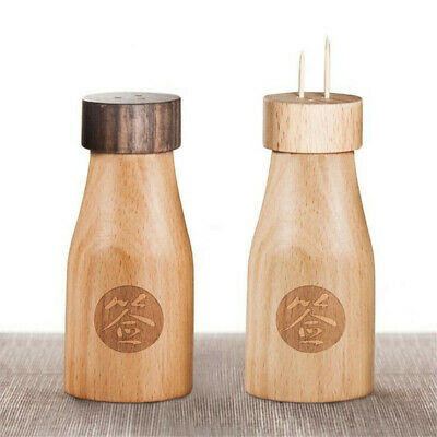 Wine Bottle Shaped Personality Toothpick Holder Solid Wooden Toothpick Box N7