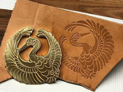 Brass JAPANESE SWAN Letterpress Tool Stamp leather embossing die
