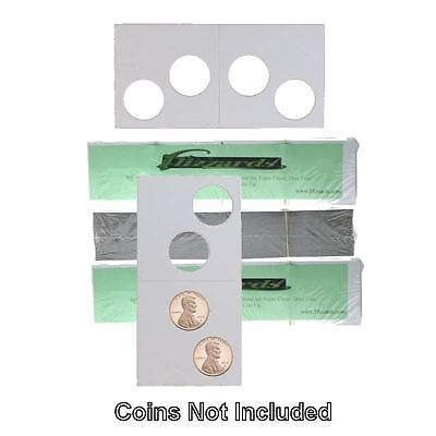 2 Hole - Penny/Cent Guardhouse 2x2 Mylar/Cardboard Coin Flips, 300 pack