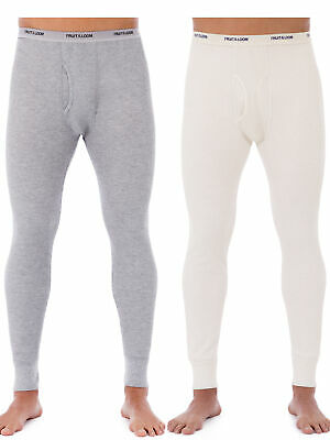 Fruit of the Loom Men's Classic Bottoms Thermal Underwear for Men, Value 2 Pack