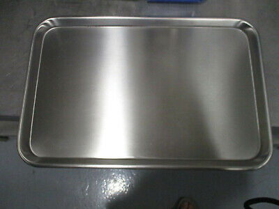 "Stainless Steel Medical Tray, Mayo Stand Tray, Tattoo Tray 19"" x 12.5"""