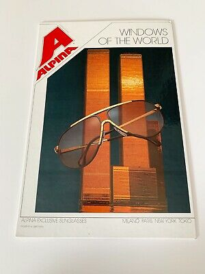Alpina World Trade Center WTC Store Sign Display Stand Up 1980's Vintage