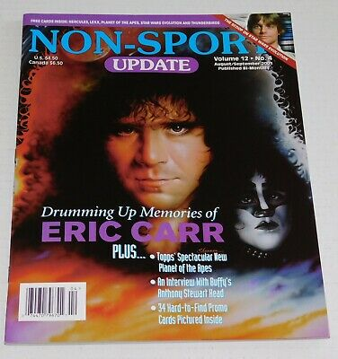 KISS Band ERIC CARR Non-Sport Update Aug Sept 2001 Trading Card Magazine