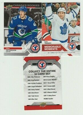 2018-19  2019 Upper Deck National Hockey Card Day Canada 17 Card Complete Set