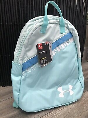 Under Armour UA Favorite Storm Girls Backpack Laptop Bag Teal Repells Water NEW