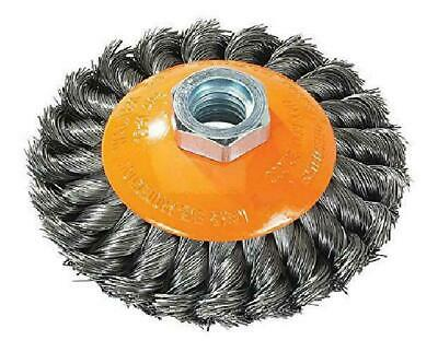 Walter 13H404 Saucer-Cup Knot-Twisted Brush – 4 In. Carbon Steel Wire Brush Wi
