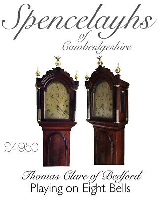 Superb 8 Day Longcase Clock by Thomas Clare Of Bedford Playing on 8 Bells