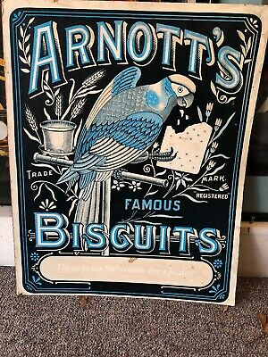 Arnott's Biscuits Paper On Timber Genuine Sign