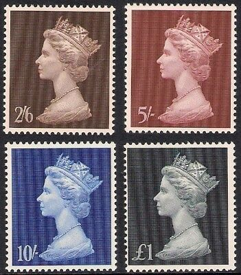 GB 1969 sg787-790 Machin High Value complete set MNH