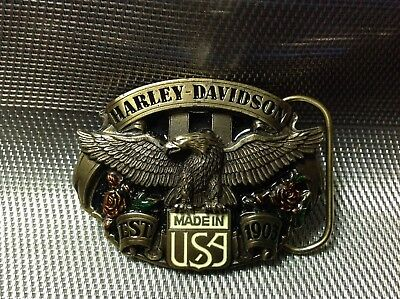 Motor Harley Davidson Official Licensed Product Belt Buckle By Siskiyou 8X6.5Cm