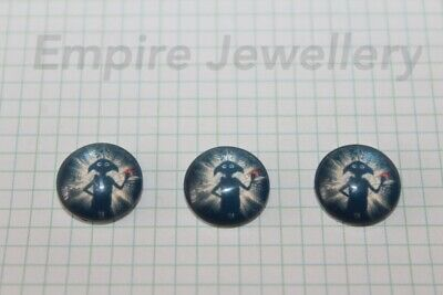 2 x Harry Potter Dobby Elf 12x12mm Glass Cabochons Cameo Hogwarts Free House