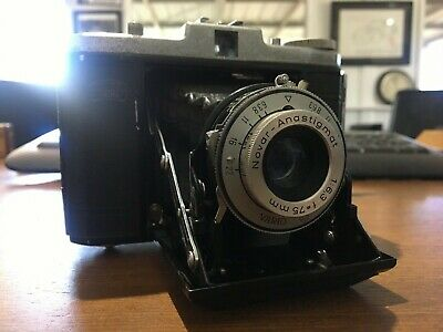 Vintage and collectible ZIESS IKON NETTAR CAMERA TESTED.