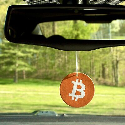 Bitcoin Air Freshener with Black Ice Scent - 3 Count, New
