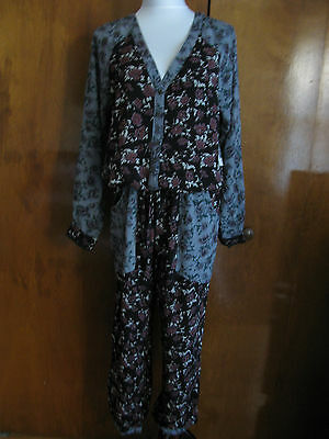 Free People Women's Rayon Summer Floral Print Jumpsuits New