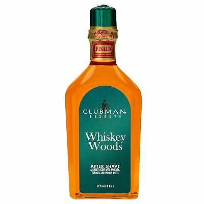 NEW CLUBMAN PINAUD WHISKEY WOODS AFTER SHAVE 177ml Mens Aftershave Lotion Col...