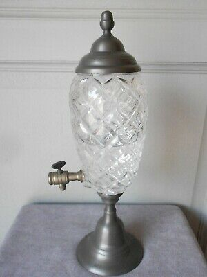 Vintage French Metal Cut Glass ABSINTHE FOUNTAIN