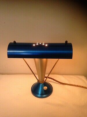 Retro Mid Century Atomic Anodised Majestic TV Lamp Light. Works!