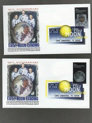 2019 - 50Th Anniversary Moon Landing ~ Dcp Cancel Panda Cachet First Day Cover