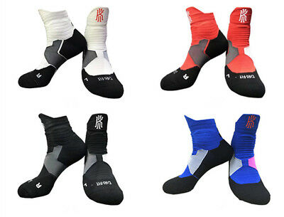 MENS Breathable Cushion Socks Kyrie Irving BASKETBALL ELITE SOCKS Size Fit 8-12