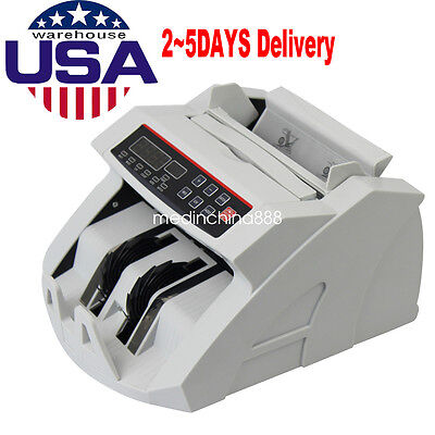 UPS Money Bill Cash Counter Currency Counting Machine UV MG Counterfeit Detector