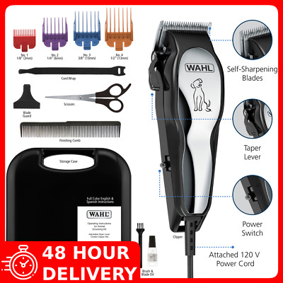 NEW Pet Professional Thick Hair Complete Set Heavy Duty Dog Grooming Clipper Kit