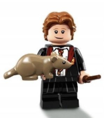 Lego Set 71022 Polybag Figurine Minifig Harry Potter N° 3 : Ron Weasley + Le Rat
