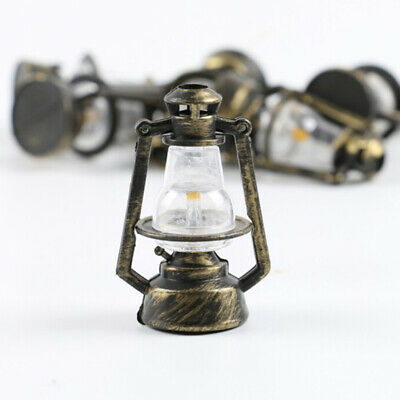 1Pc 1:12 1:6 Dollhouse miniature retro oil lamp doll house accessories toys JF
