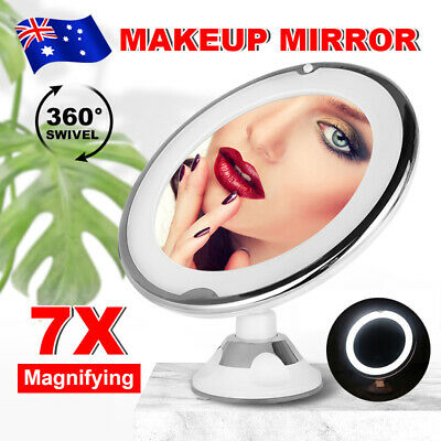 7x Magnifying Makeup Mirror Vanity Cosmetic Beauty Bathroom LED Light Portable