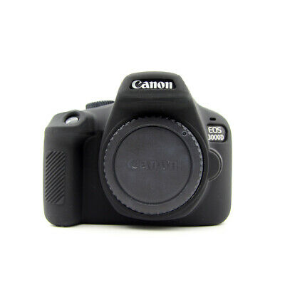 Rubber Silicon Case Cover Protector Skin for Canon EOS 3000D 4000D Rebel T100