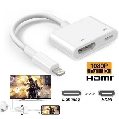 Lightning to HDMI Digital AV TV Cable Adapter For Apple iPad iPhone X 8 7 6Plus