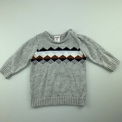 Boys size 00, Seed, knitted cotton sweater / jumper /pullover, GUC