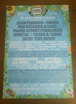 Kendal Calling 2019 Festival lineUp Large Flyer Tom Jones Courteeners 21x15cm