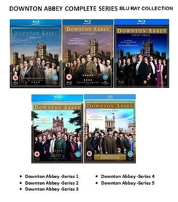 DOWNTON ABBEY COMPLETE SERIES 1 2 3 4 5 Blu-ray Box Set UK Release  Brand New R2