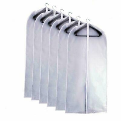 Eanxo Moth Proof Garment Bag 40 Inch Lightweight Clear White Peva Breathable Sui