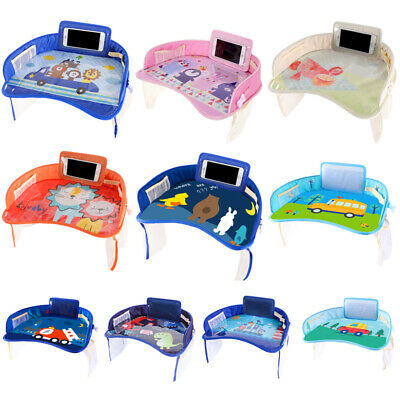 Baby Safety Travel Tray kids Drawing Board Table Kids Car Seat Snack Waterproof