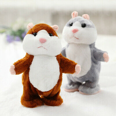 Cheeky Hamster Repeats What You Say Electronic Pet Talking Plush Toy Funny Gift