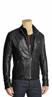 Men's Genuine Leather Jacket Slim Fit Real Cafe Racer Biker New Vintage By Lizaz