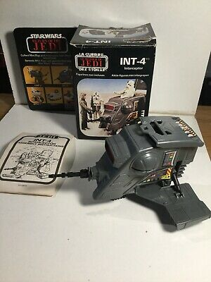 Vintage Star Wars Mini Rig INT-4 Interceptor In Its Box With Instructions