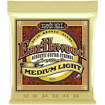 Ernie Ball Earthwood 80/20 Bronze Med-Light 12-54 Acoustic Guitar Strings 2003