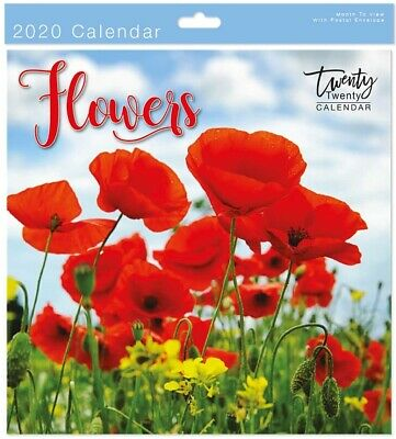 2020 Flowers Square Wall Calendar - Wall Planner - 05611.