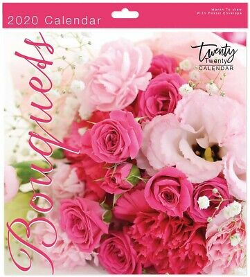 2020 Bouquets Square Wall Calendar - Wall Planner - 05612.