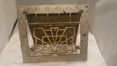 "Heat Air Grate Wall Register 10"" x 12 "" Wall Opening  Antique  Works! ART DECO"