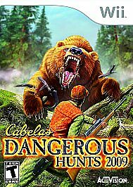 🔥 Cabela's Dangerous Hunts 2009 Wii Cased Manual included