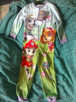 BNWT Girls Nickleodeon Paw Patrol Nightwear All in One Age 4-5 Years One Piece