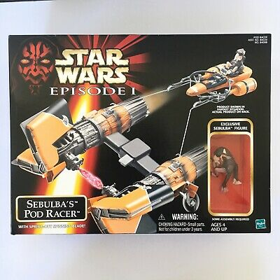 NEW 1998 Hasbro Star Wars Episode I Sebulba's Pod Racer FACTORY SEALED podracer