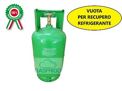 Cylinder Empty with Faucet x Recovery Gas Coolant - Max 12 kg R410A R134