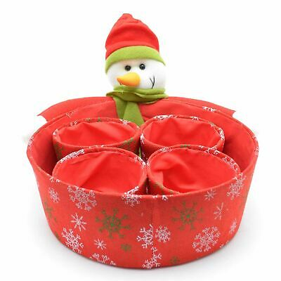 Christmas Snowman Basket Present Boxes Room Home Decorations Xmas Supply 5pc