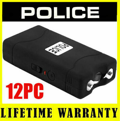 (12) POLICE BLACK 800 Mini Stun Gun Self Defense - Wholesale Lot